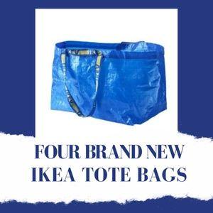 4 Ikea Reusable Frakta Tote Bags Thrifting Grocery